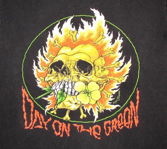 Metallica 1991 Day On Green Tour Vintage T Shirt Pushead XL