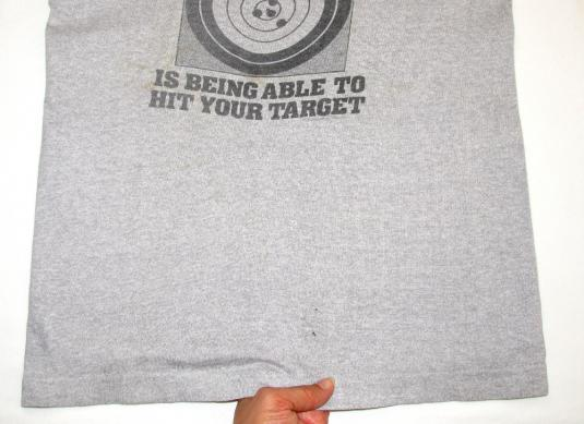 Gun Control Able To Hit Your Target Vintage T Shirt 80's