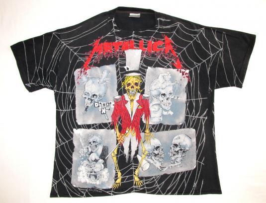 Metallica 1992 Black Tour Vintage T Shirt Pushead Ringmaster