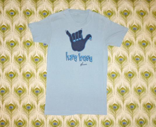 Hang Loose 70's Hawaii Vintage T Shirt Surf Island Sign