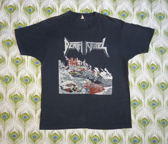 Death Angel Vintage 80's Ultra-Violence Concert T Shirt 1987