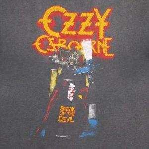Ozzy Osbourne 1982 Speak Of The Devil Tour Vintage T Shirt