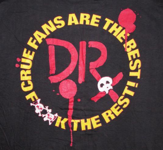 Motley Crue 80's Dr Feelgood Vintage T Shirt 1989 Deadstock
