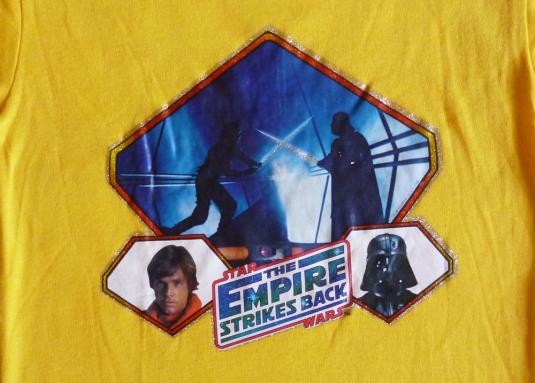 Empire Strikes 1980 Vintage T Shirt Star Wars Iron On Darth