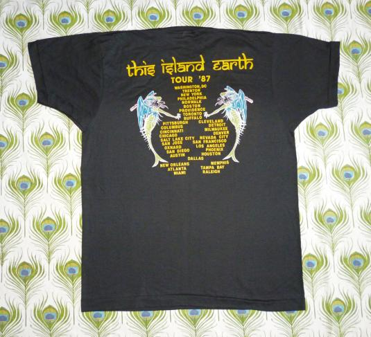 Dr. Know 1987 The Island Earth Vintage T Shirt Deadstock