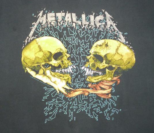 Metallica 1991 Sad But True Vintage T Shirt Black