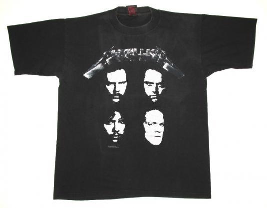 Metallica 1991 Black Tour Vintage T Shirt Historic Dates