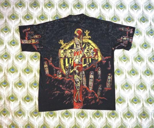 Slayer 1991 Seasons In The Abyss Vintage T Shirt Allover