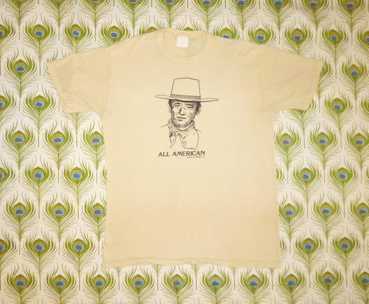 John Wayne 1979 All American Vintage T Shirt 70's Western