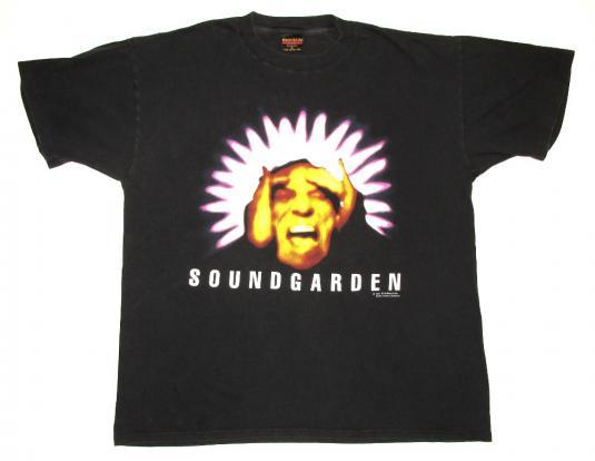 Soundgarden 1994 Black Hole Sun Suprukn Tour Vintage T Shirt