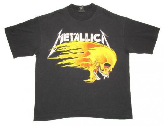 Metallica 1994 Live Sh!t Tour Vintage T Shirt Pushead Dates