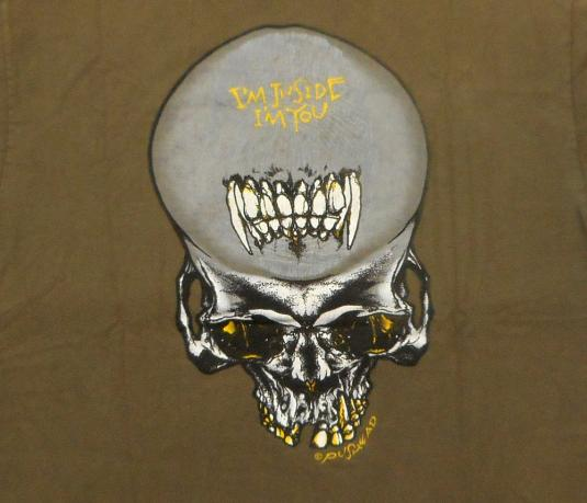 Metallica 1991 Black Tour Vintage T Shirt Sad But True Olive