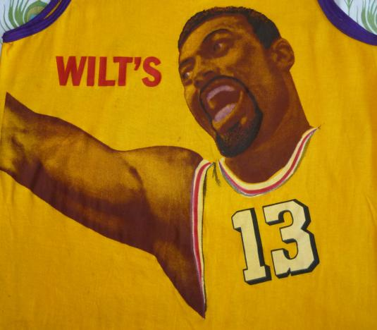 Wilt Chamberlain 70's Vintage T Shirt Slam Dunk Lakers Rare