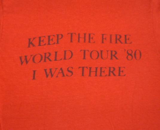 Kenny Loggins 1980 Vintage T Shirt Keep The Fire Concert
