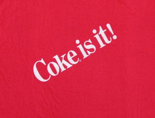 Coke Is It! 80's Coca Cola Vintage T Shirt Deadstock NOS XL