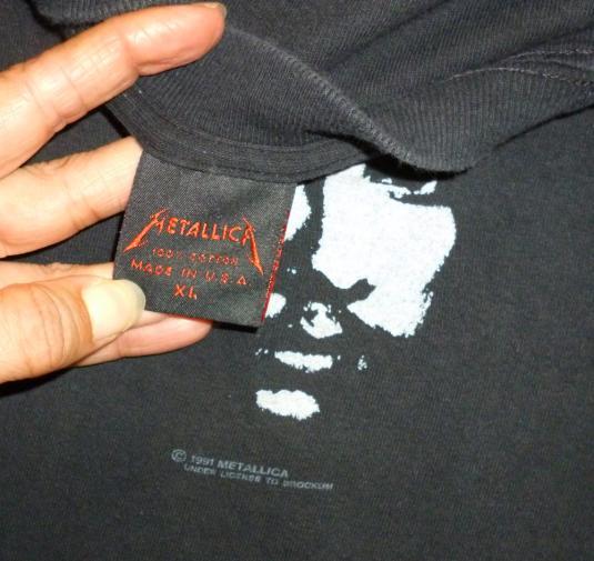 Metallica 1991 Black Album Tour Vintage T Shirt Dates