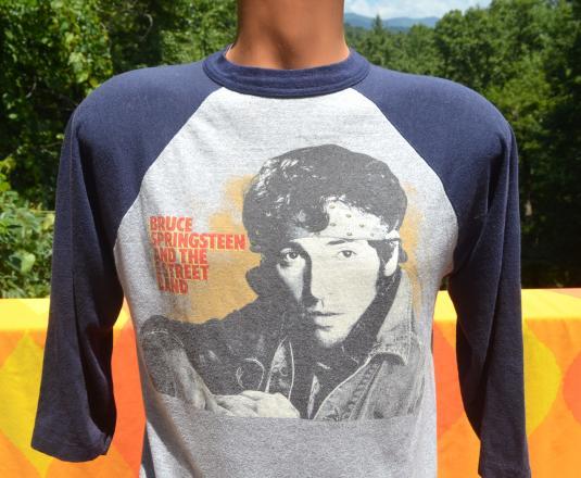 vintage BRUCE SPRINGSTEEN raglan concert tour t-shirt 1984