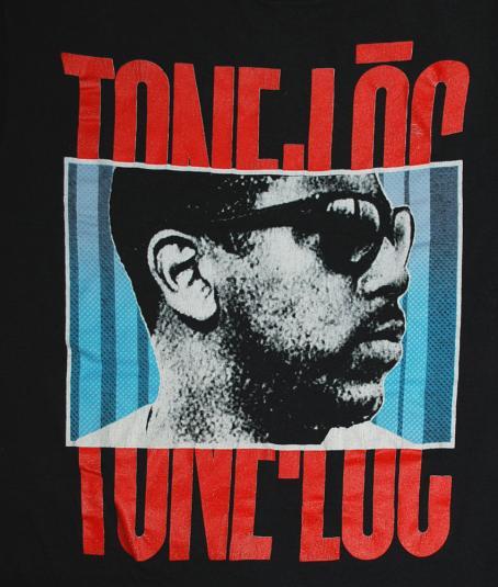 vintage 80's tone loc WILD THING rap hip hop black t-shirt