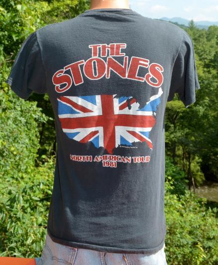 vintage 1981 ROLLING STONES tour concert t-shirt black 81 us