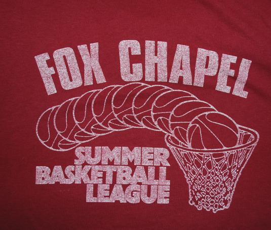 vintage FOX CHAPEL basketball league t-shirt pennsylvania