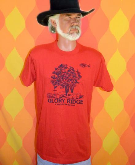 vintage GLORY RIDGE vineyard for lord christian t-shirt 80s