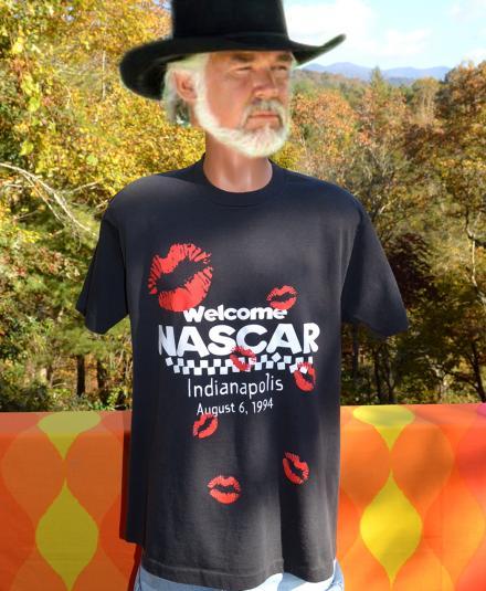 vintage NASCAR indy 500 indianapolis black t-shirt 90s kiss