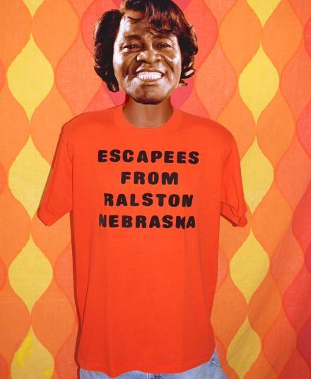 vintage RALSTON nebraska escape funny midwest t-shirt orange