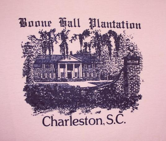 vintage BOONE HALL plantation charleston sc t-shirt pink
