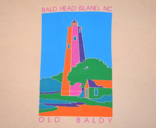 vintage BALD HEAD island north carolina t-shirt lighthouse