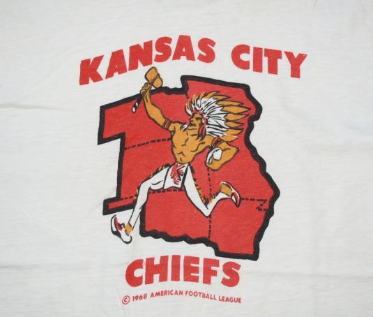vintage 1968 kansas city CHIEFS nfl football t-shirt native