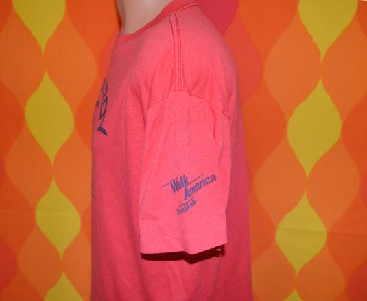 vintage PICKROY march of dimes charity t-shirt 80s red