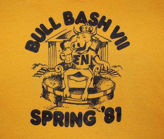 vintage t-shirt SIGMA NU fraternity bull 1981 greek college