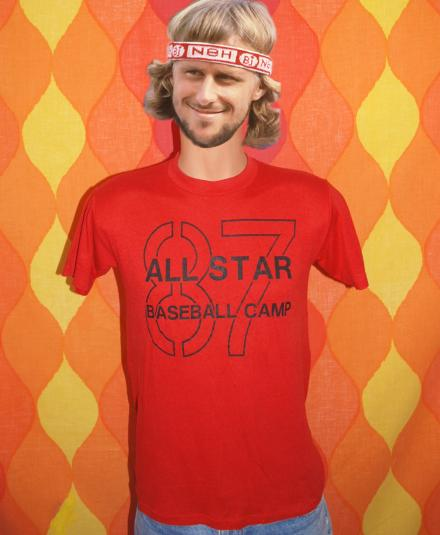 vintage ALL STAR camp baseball california t-shirt 1987