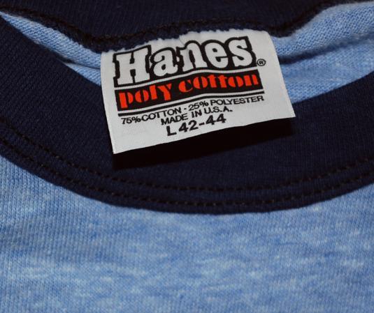 vintage NORTHWEST products heathered blue ringer t-shirt 70s