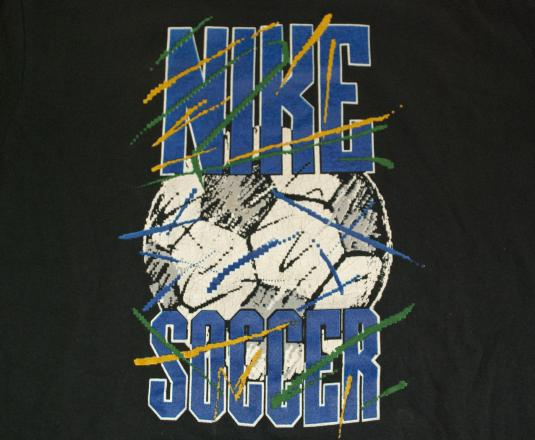 vintage NIKE long sleeve soccer football t-shirt 80s