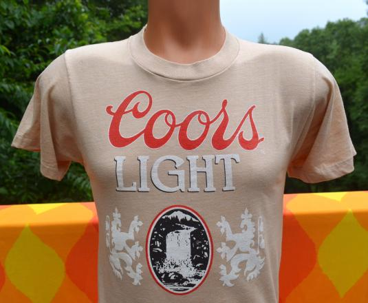 vintage 70s COORS light beer brewing party t-shirt rockies
