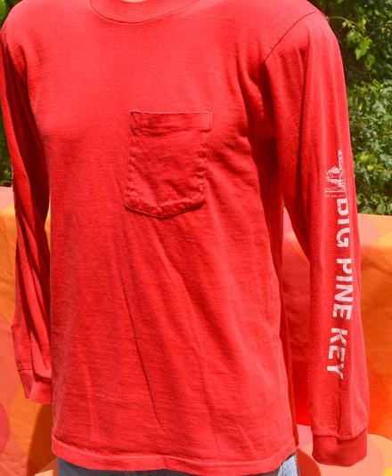 vintage BIG PINE KEY fishing lodge long sleeve t-shirt 70s