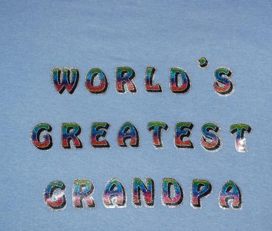 vintage world's greatest GRANDPA glitter t-shirt XXL