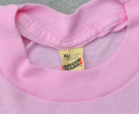 vintage 80s CATS kittens pink hearts love t-shirt kawaii cat