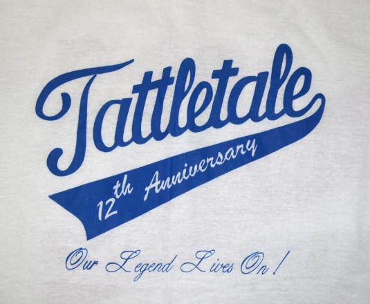 vintage TATTLETALE bar restaurant anniversary wtf t-shirt 80