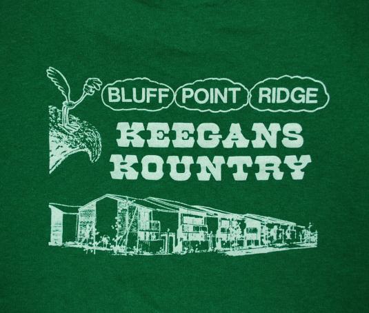 vintage BLUFF POINT ridge keegan apartments green t-shirt