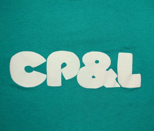vintage CP&L healthy babies power company carolina t-shirt