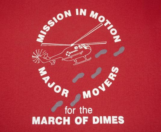 vintage HELICOPTER asheville hospital medical t-shirt red