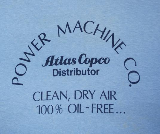 vintage POWER MACHINE better than nature ringer t-shirt 70s