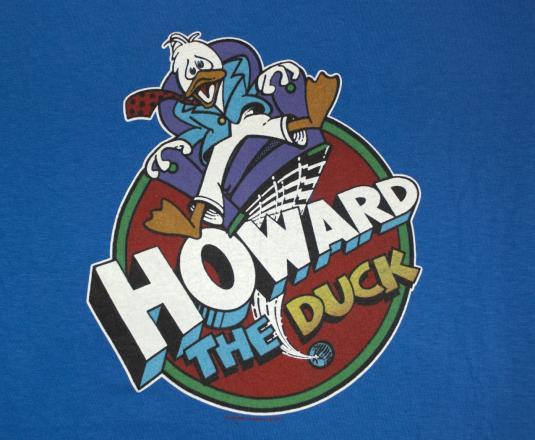 vintage t-shirt HOWARD the duck movie sci-fi cartoon 80s