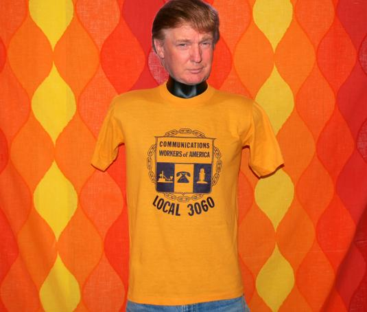 vintage UNION communications workers 3060 t-shirt 70s 80s