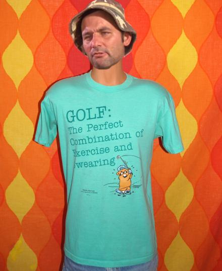 vintage GOLF exercise swearing gopher funny humor t-shirt