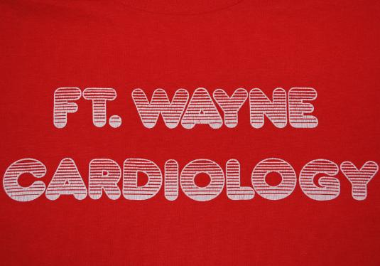 vintage FORT WAYNE cardiology beat goes on t-shirt heart fun