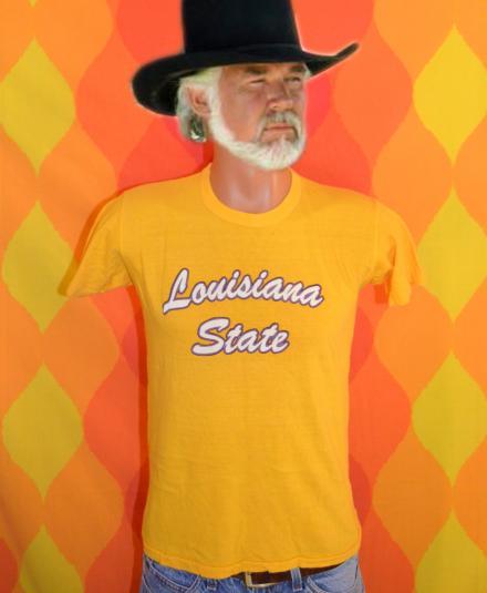 vintage LSU louisiana state university t-shirt tigers gold