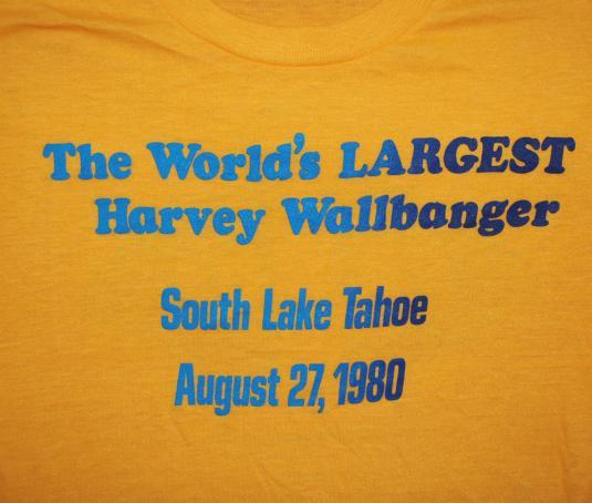 vintage 1980 LAKE TAHOE harvey wallbanger liquor t-shirt fun